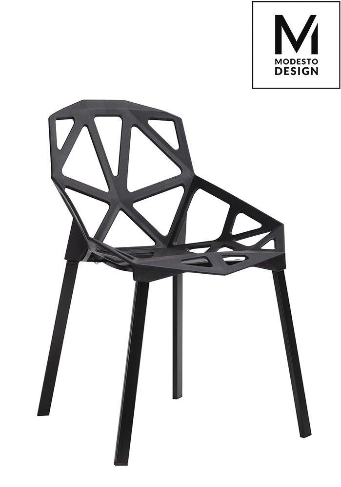 Krzesło SPLIT MAT czarne