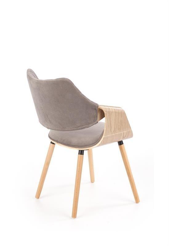 Krzesło K396 VELVET jasny dąb-popielate