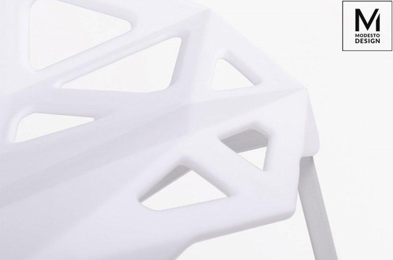 Krzesło SPLIT MAT białe