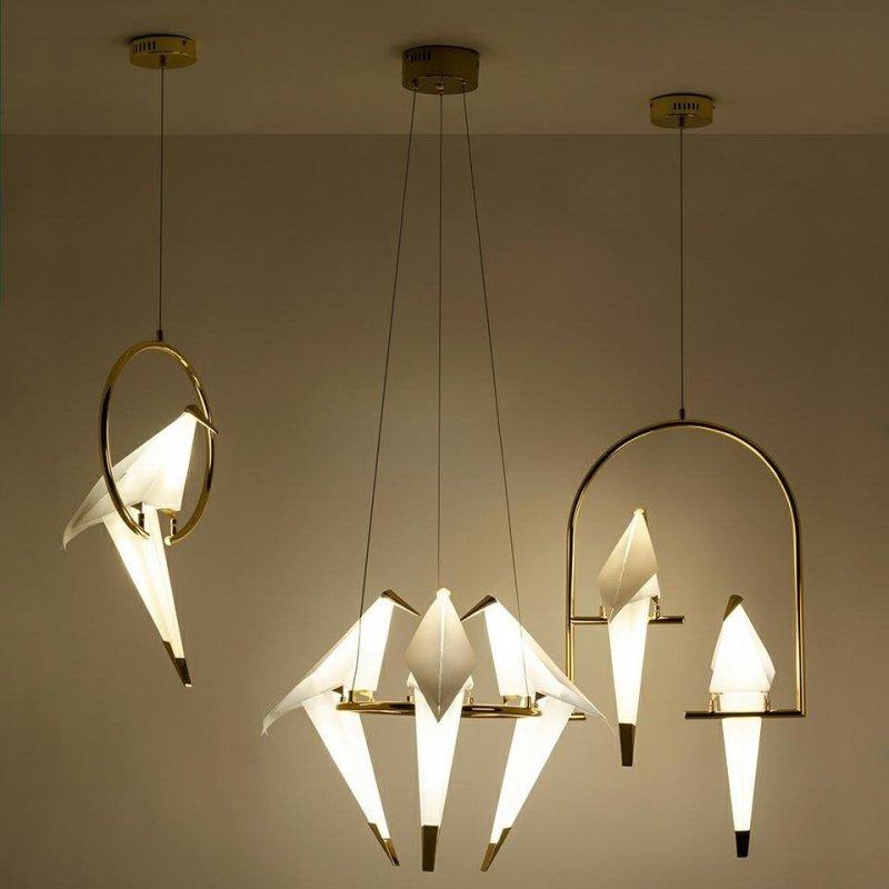 Lampa wisząca LORO 1 CIRCLE złota