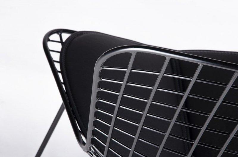 Krzesło NET SOFT czarne/czarna poduszka