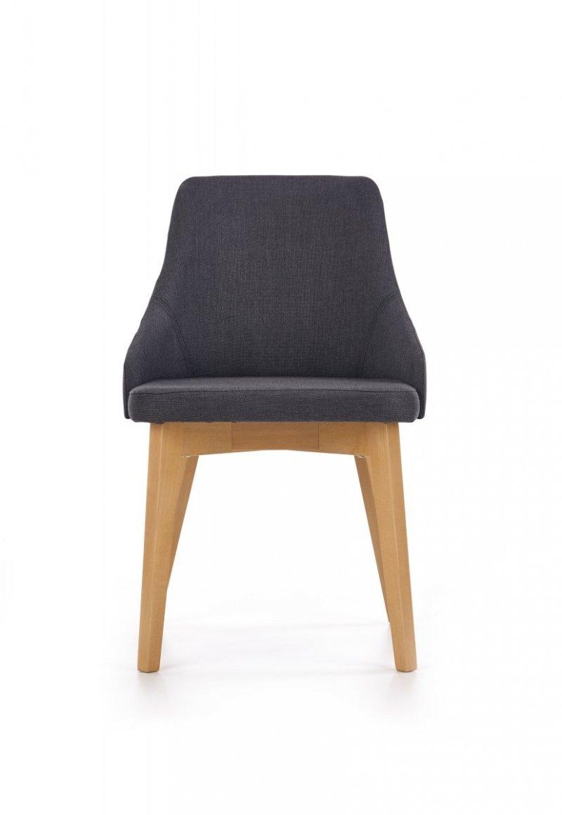 Krzesło TOLEDO ciemny grafit/dąb miodowy