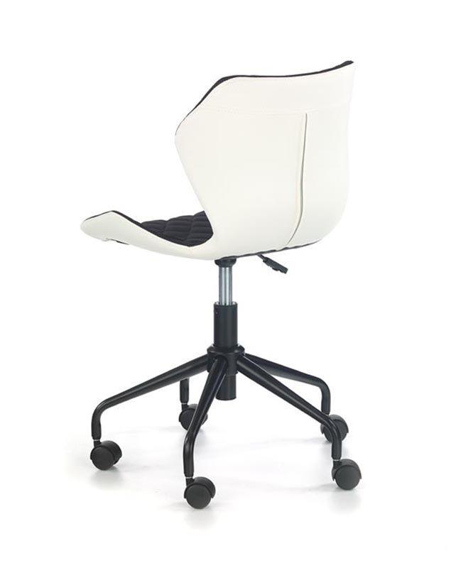 Fotel młodzieżowy MATRIX czarny/biały