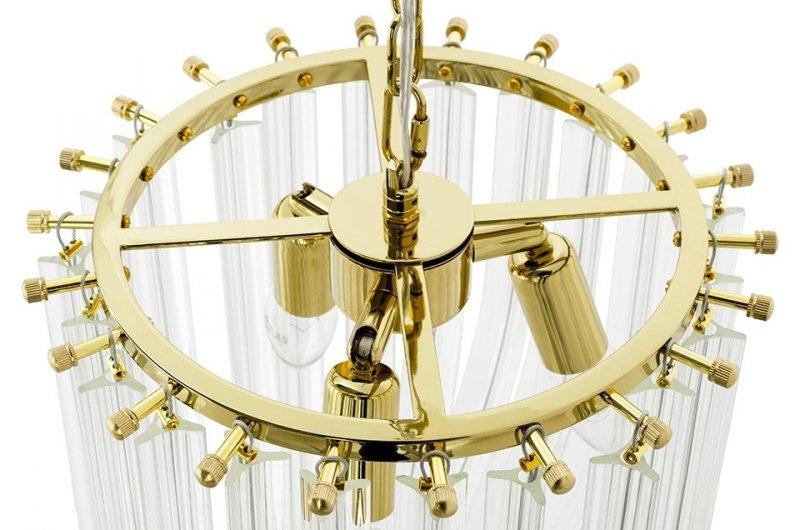 Lampa wisząca MURANO S złota