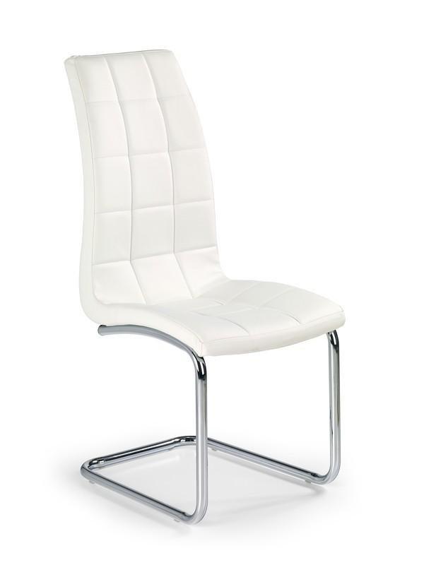 Krzesło K147 białe/chrom