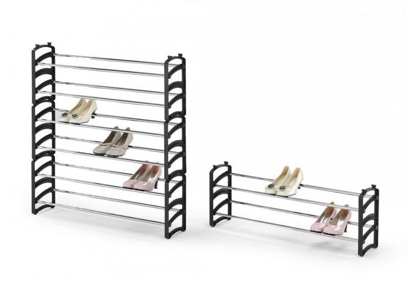 Stojak na buty ST1 czarny/chrom