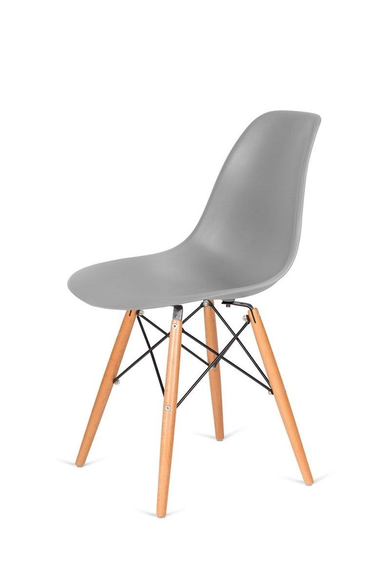 Krzesło DSW WOOD szare/buk