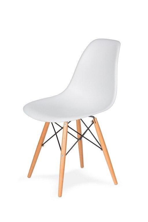 Krzesło DSW WOOD białe/buk