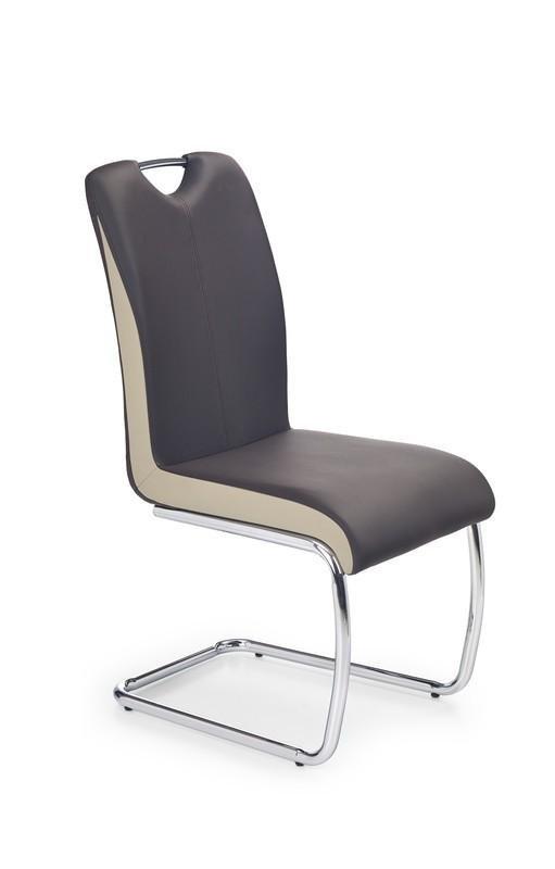 Krzesło K184 ciemny brąz/champagne