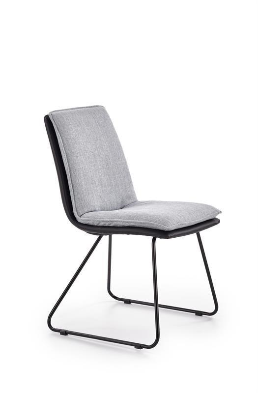 Krzesło K326 jasny popielaty/czarny