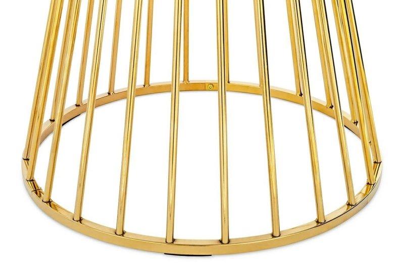 Stół okrągły GLAM MARBLE marmur/złoto