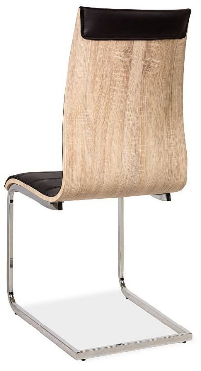 Krzesło H133 czarne-dąb sonoma