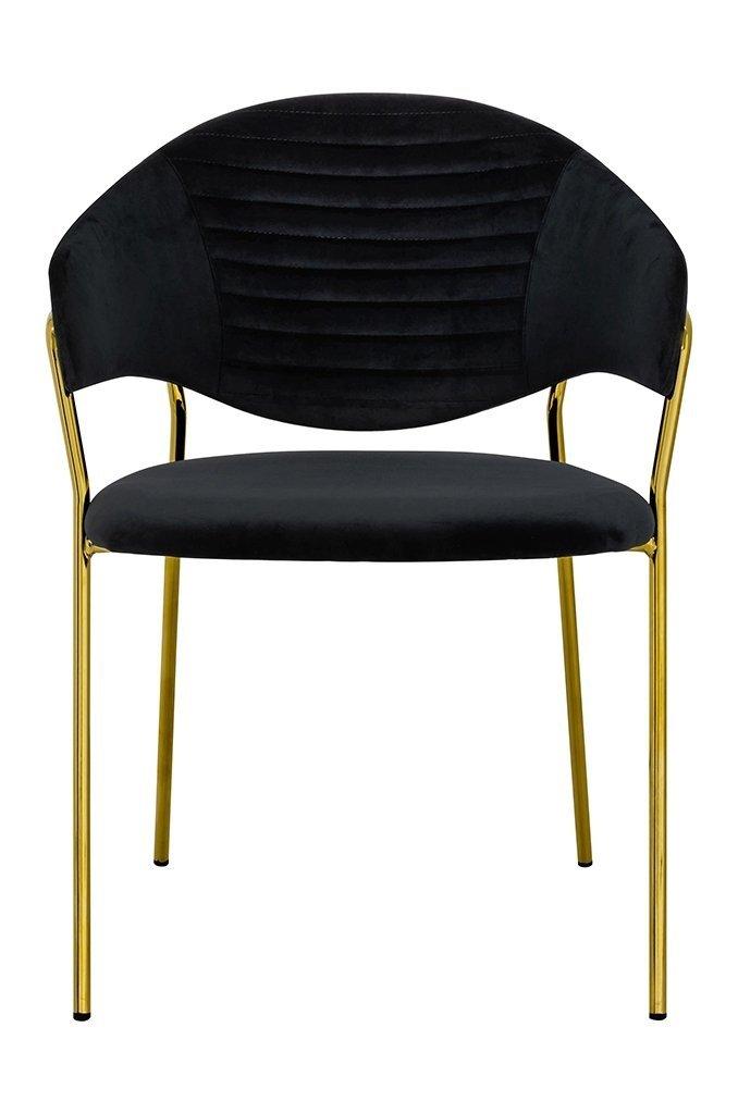 Fotel NAOMI czarny/złoty