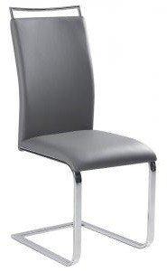 Krzesło H334 szare/chrom