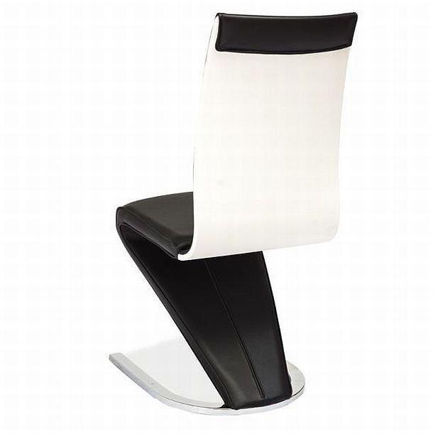 Krzesło H134 czarne/biały tył