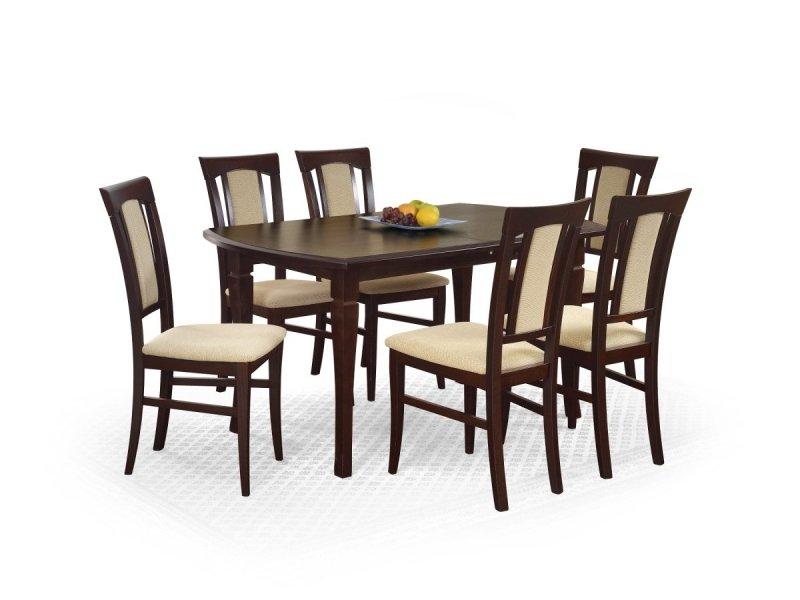 Stół rozkładany FRYDERYK (160x200) ciemny orzech