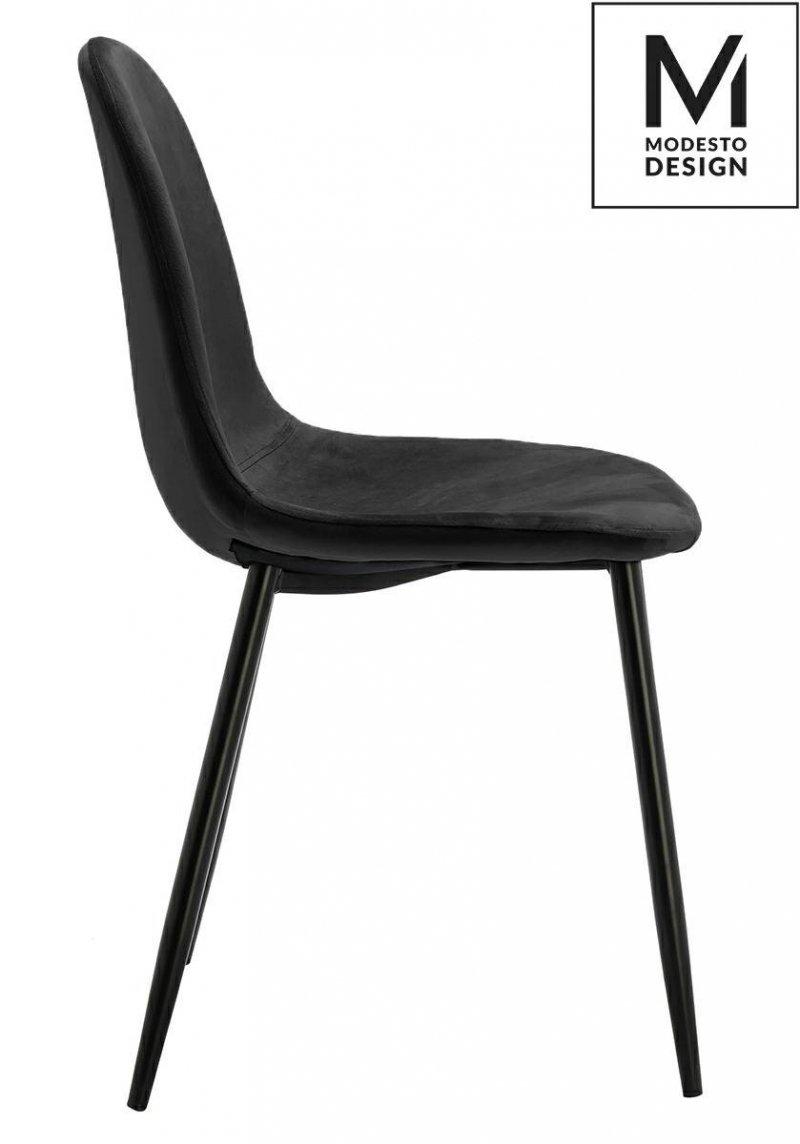 Krzesło LUCY czarne-welur