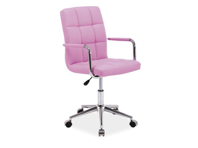 Fotel obrotowy Q022 różowy