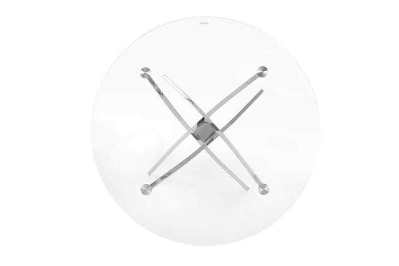 Stół RAYMOND bezbarwny/chrom