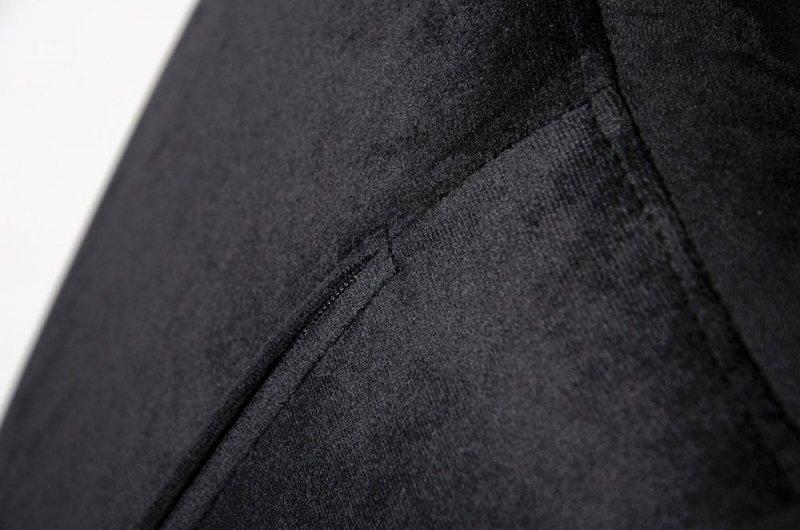 Fotel EGG SZEROKI VELVET BLACK czarny