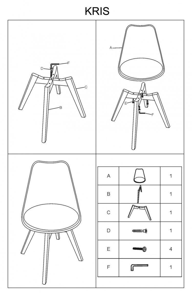 Krzesło KRIS dąb/czarny