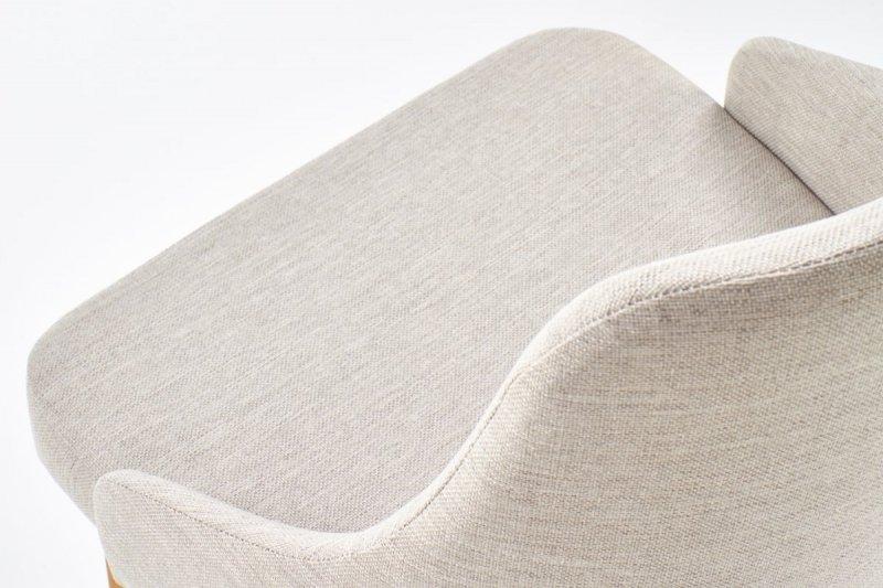 Krzesło TOLEDO jasny beż/dąb miodowy