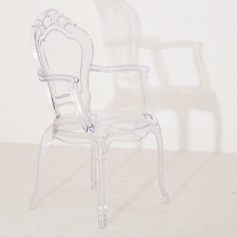 Krzesło KING ARM transparentne