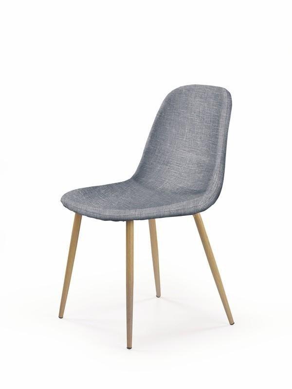Krzesło K220 popielaty/dąb miodowy