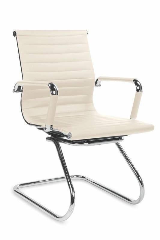 Fotel gabinetowy PRESTIGE SKID kremowy