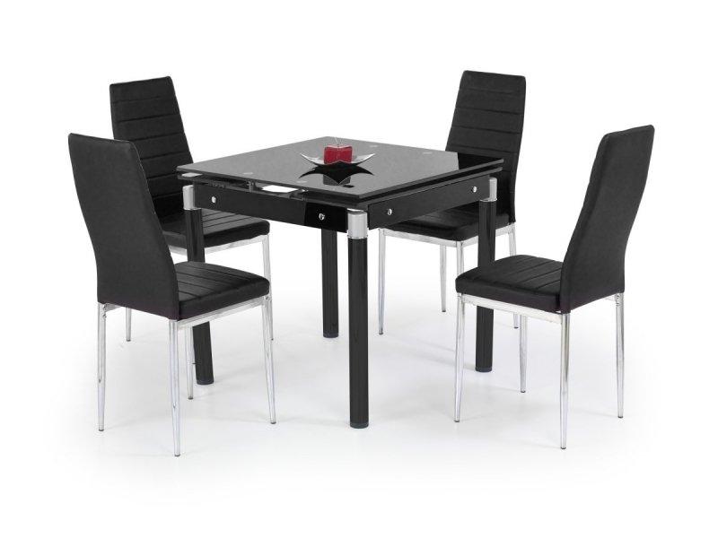 Stół rozkładany KENT czarny/chrom