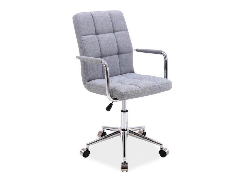 Fotel obrotowy Q022 szary materiał