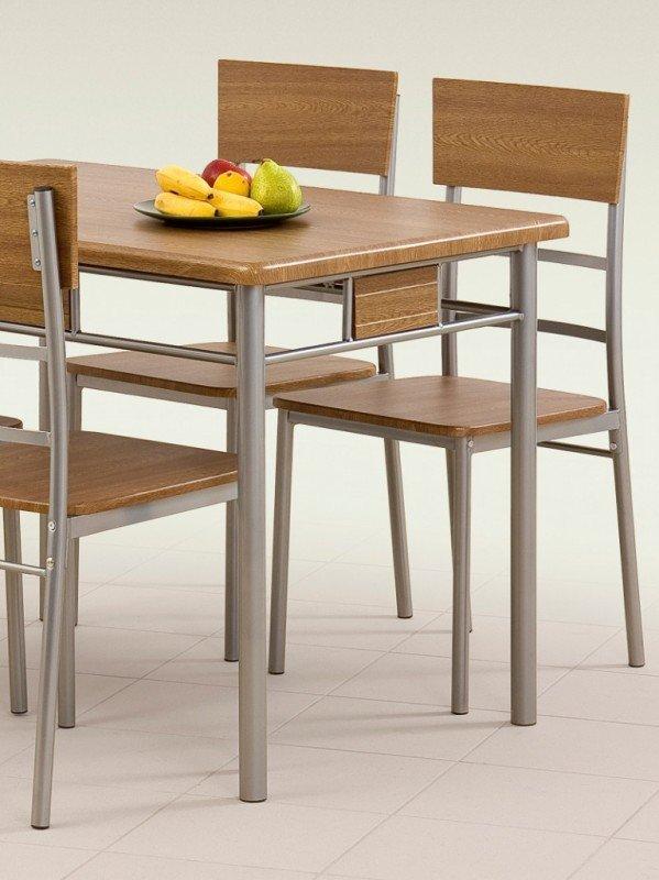 Zestaw Natan Stół 4 Krzesła Orzech