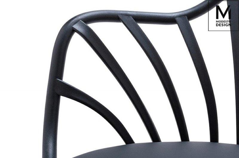 Fotel ALBERT ARM czarny/buk
