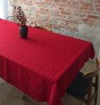 Obrus SIMPLE 150x350 czerwony