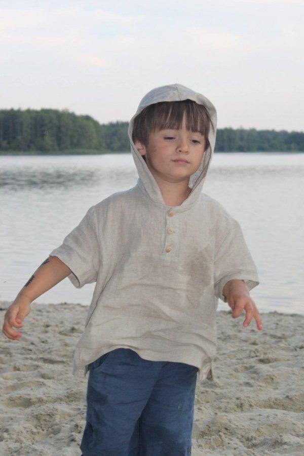 koszulka lniana dla chłopca