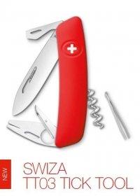 Scyzoryk Czerwony, Tick Tool Swiza TT03 - usuwa kleszcze