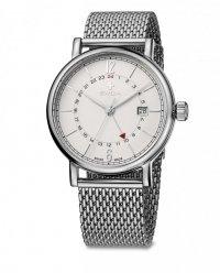 zegarek damski ALZA GMT, SST, white, mesh WAT.0142.1002