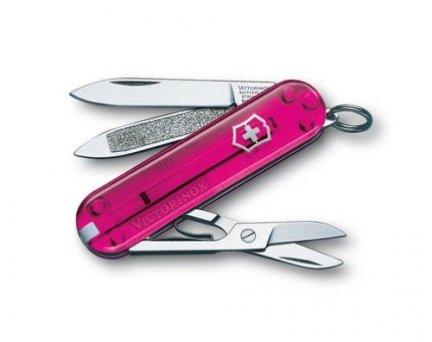 Scyzoryk Victorinox Classic Pink 0.6203.T5 GRAWER NA OBUDOWIE GRATIS !