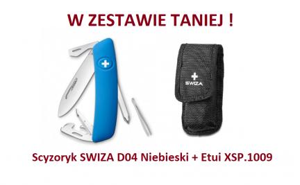 Scyzoryk SWIZA D04 Niebieski KNI.0040.1030 + Etui XSP.1009