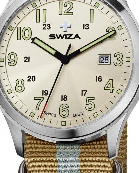 Zegarek SWIZA Kretos Gent SST silver-sand WAT.0251.1010
