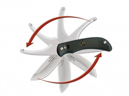 Nóż Outdoor Edge Harpoon SwingBlade Black