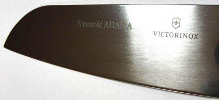 Grawerowanie laserowe na ostrzu noża kuchennego Victorinox