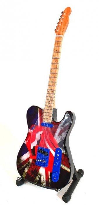 Mini - gitara - Rolling Stones -Keith Richards - UK&tongue MGT-2301