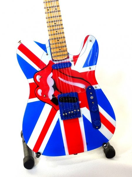 Mini gitara - Rolling Stones - Keith Richards - UK&Tongue, skal 1:4; MGT-2301B