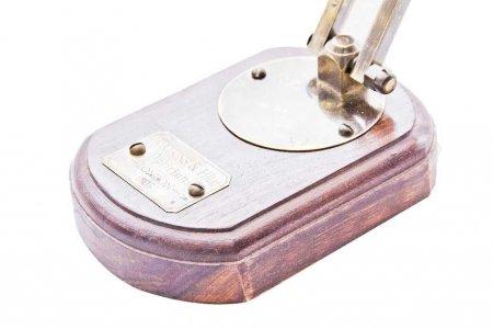 Lupa mosiężnaj na podstawie z palisandru. Wykończenie antyk - NI3576