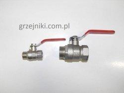 Zawór kulowy 1 GW-GZ nyplowy