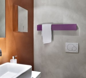 Grzejnik Ridea TOWEL BAR 100x600 ALUMINIUM FADED moc 60W