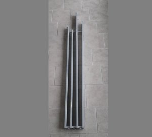 Grzejnik Brem LAME 1900x230 [4] GLOSSY ALUMINIUM moc 652W