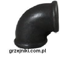 Kolanko czarne 6 GW/GW 1 1/4