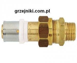 Złącze proste zaciskowo-śrubunkowe, 16*2-3/4 GZ